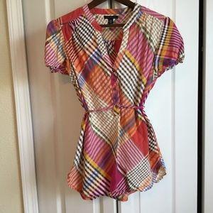 Tommy Hilfiger Multi color plaid shirt M